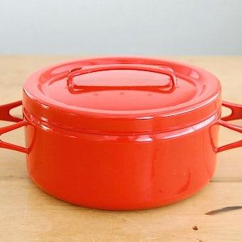 FINEL/フィネル/ホーロー製両手鍋(レッド)の商品写真