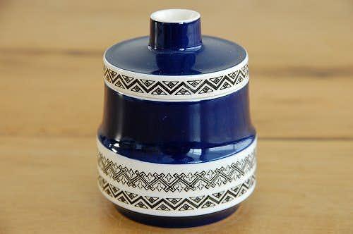 デンマークで見つけた陶器のシュガーポットの商品写真