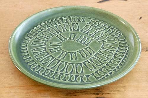 スウェーデンで見つけたヒマワリのモチーフが美しいプレート(21cm)の商品写真