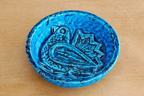 RORSTRAND/ロールストランド/Gunnar Nylund/陶器のプレート(小鳥・ブルー)の商品写真