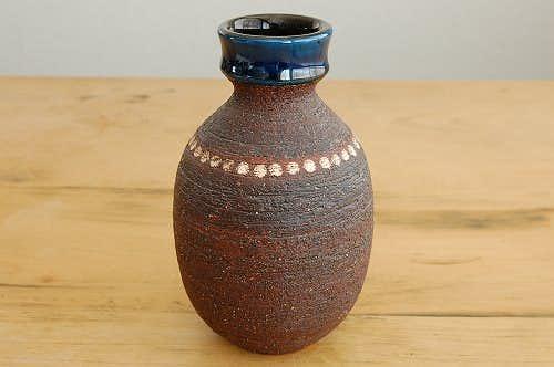 スウェーデン/GABRIEL/ガブリエル釜/陶器の花瓶(ブラウン・丸型)の商品写真