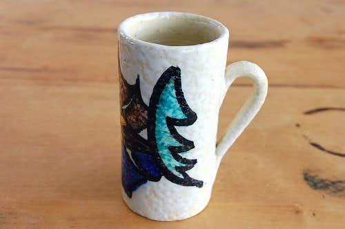 スウェーデンで見つけた陶器の花瓶(持ち手付き)の商品写真