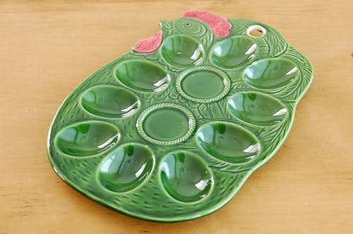 デンマークで見つけた陶器のエッグトレー(ニワトリ)の商品写真