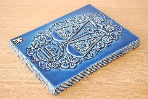 スウェーデン/JIE釜/陶板の壁掛け(天秤座・ブルー)の商品写真