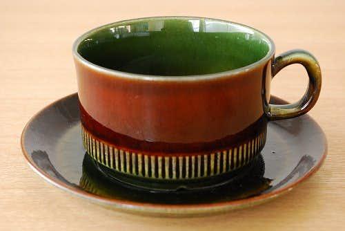 ウプサラエクビイ(ゲフル)/UpsalaEkeby(GEFLE)/Olive/オリーブ/ティーカップ&ソーサーの商品写真
