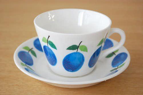 GUSTAVSBERG/グスタフスベリ/PRUNUS/プルーヌス/コーヒーカップ&ソーサー(少々難あり)の商品写真
