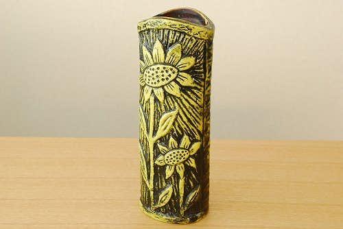 RORSTRAND/ロールストランド/Gunnar Nylund/陶器の花瓶(ひまわり柄、イエロー)の商品写真