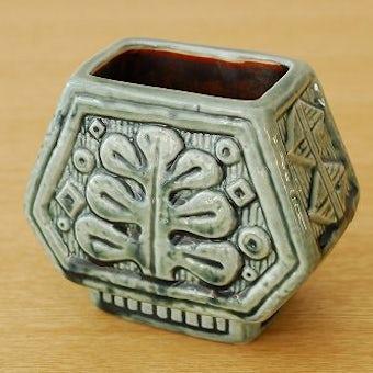 RORSTRAND/ロールストランド/Gunnar Nylund/小さな陶器の花瓶(グリーン)の商品写真