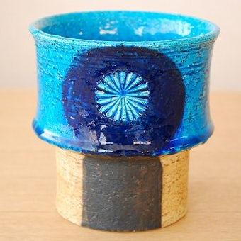 RORSTRAND/ロールストランド/陶器の花瓶(ターコイズブルー×ブラウン)の商品写真