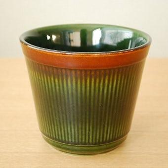 GEFLE(Upsala Ekeby)/ゲフル/Oliv/オリーブ/陶器の植木鉢カバー(小)の商品写真