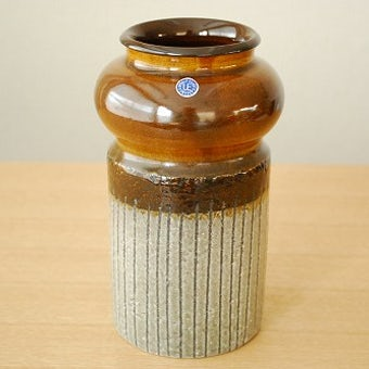 Upsala Ekeby/ウプサラエクビイ/Mari Simmulsonデザイン/陶器の花瓶(ブラウン)の商品写真