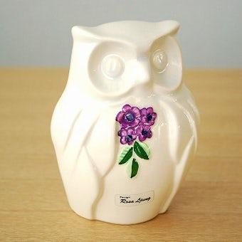 Rosa Ljungデザイン/陶器のフクロウのオブジェの商品写真