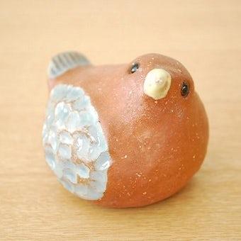 スウェーデン/Bengt Wallデザイン/陶器の小鳥オブジェの商品写真