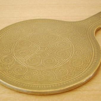 スウェーデン/SYCO釜/陶器のカッティングボード(鍋敷き)の商品写真