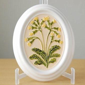 スウェーデン/GABRIEL/ガブリエル釜/陶板の壁飾り(イエローのお花)の商品写真