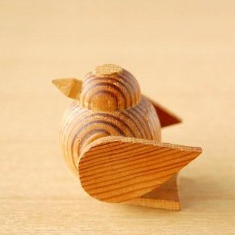 スウェーデンで見つけた木製の小鳥オブジェの商品写真