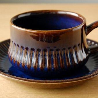 GEFLE(Upsala Ekeby)/ゲフル/KOSMOS/カップ&ソーサー(艶ありブルー)の商品写真