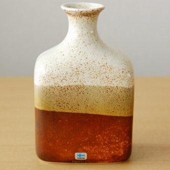 デンマークで見つけた陶器の花瓶(ブラウン)の商品写真