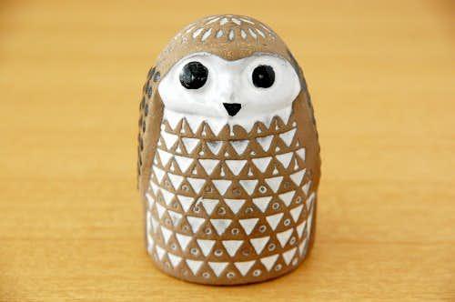 Upsala Ekeby/ウプサラエクビイ/Mari Simmulsonデザイン/陶器のフクロウのオブジェの商品写真