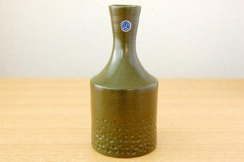 Upsala Ekeby/ウプサラエクビイ/陶器の花瓶(モスグリーン)の商品写真