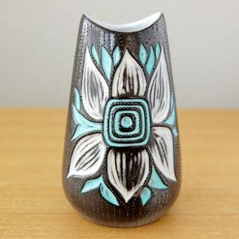 Upsala Ekeby/ウプサラエクビイ/Mari Simmulson/陶器の花瓶(ブルーのお花)の商品写真