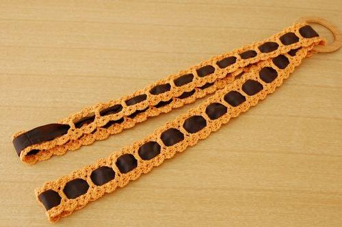 スウェーデンで見つけたトレーホルダー(オレンジ&ブラウン)の商品写真