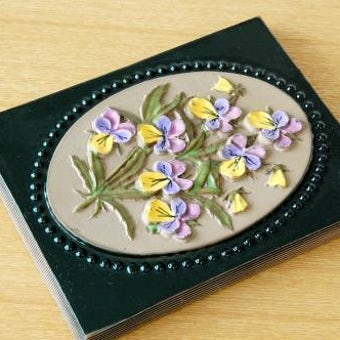 スウェーデン/JIE釜/陶板の壁掛け(パンジー)の商品写真