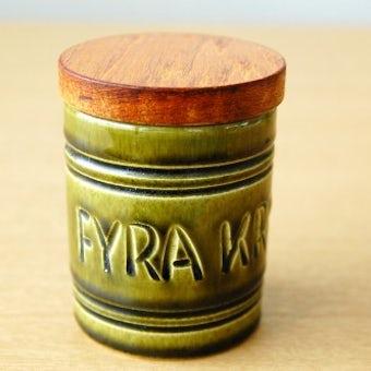 スウェーデンで見つけた木蓋付きスパイスポット(FYRA KRYDDOR)の商品写真