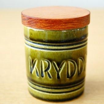 スウェーデンで見つけた木蓋付きスパイスポット(KRYDDPEPPAR)の商品写真