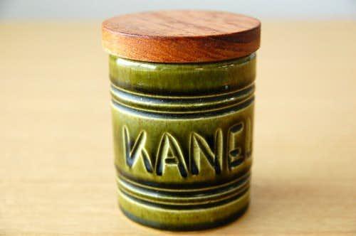 スウェーデンで見つけた木蓋付きスパイスポット(KANEL)の商品写真