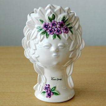 Rosa Ljungデザイン/陶器の花瓶(女性の顔)の商品写真
