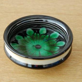デンマーク製/陶器の小さな器(グリーンのお花)の商品写真