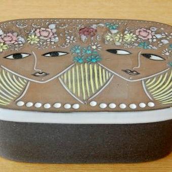Upsala Ekeby/ウプサラエクビイ/Mari Simmulson/マリ・シミュルソン/バターケース(美しい女性)の商品写真