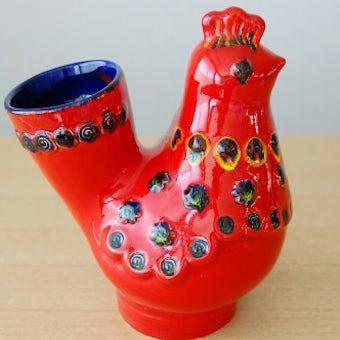 スウェーデンで見つけた大きなニワトリのオブジェ(花瓶)の商品写真