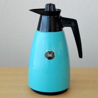 スウェーデンで見つけたプラスティック魔法瓶(エメラルドグリーン)の商品写真