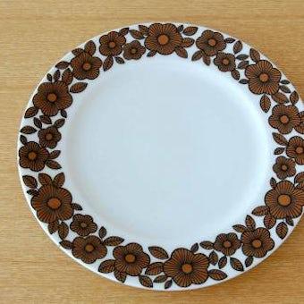 デンマークで見つけたブラウンの花柄が可愛いデザートプレート(17cm)の商品写真