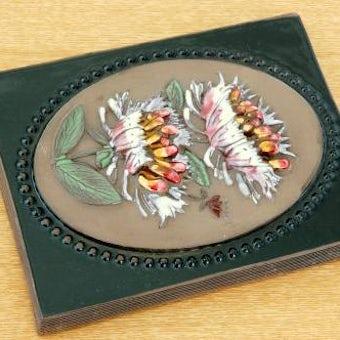 スウェーデン/JIE釜/陶板の壁掛け(小)(ピンクのお花)の商品写真