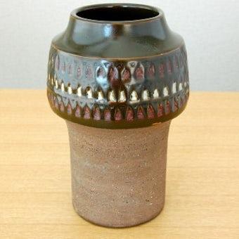 スウェーデン/Nittsjo釜/陶器の花瓶(ブラウン)の商品写真