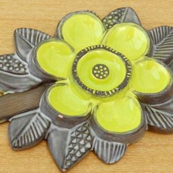 Upsala Ekeby/ウプサラエクビイ/陶板の壁掛け(黄色のお花)の商品写真