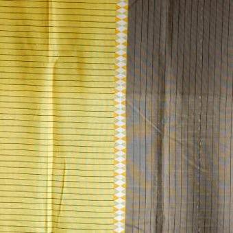 スウェーデンで見つけたカーテン2枚セット(ブラウン&マスタードイエロー)の商品写真
