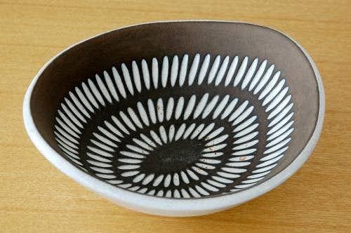 GEFLE(Upsala Ekeby)/ゲフル(ウプサラエクビィ/陶器の深皿の商品写真