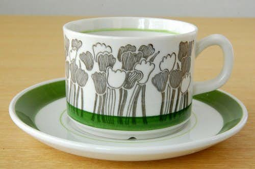 GEFLE(Upsala Ekeby)/ゲフル/TULPAN/コーヒーカップ&ソーサーの商品写真