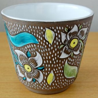 Upsala Ekeby/ウプサラエクビイ/Mari Simmulson/陶器の植木鉢カバーの商品写真