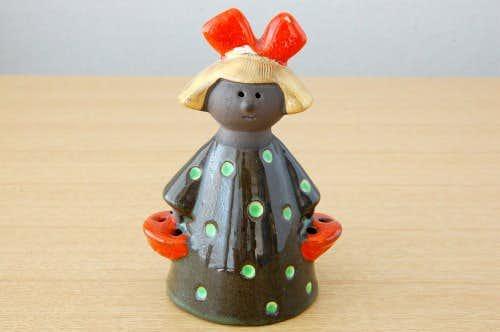 スウェーデン/JIE釜/陶器の女の子のオブジェの商品写真