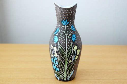 Upsala Ekeby/ウプサラエクビイ/Mari Simmulson/美しい陶器の花瓶の商品写真