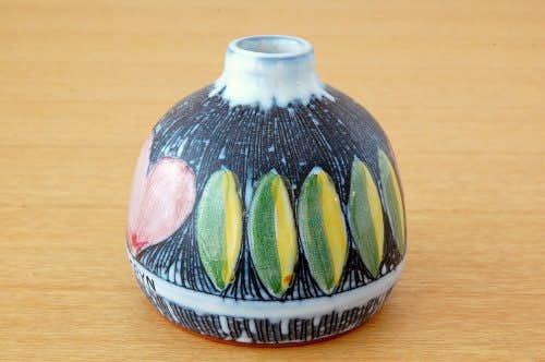 スウェーデン製/LAHOLM/陶器の小さな一輪挿し(花瓶)の商品写真
