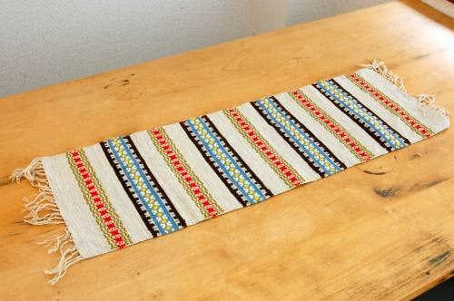 スウェーデンで見つけた毛織りのテーブルランナーの商品写真