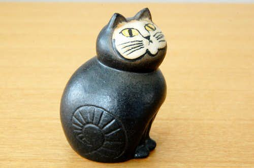 Lisa Larson/リサ・ラーソンデザイン/猫のオブジェ(ブラック)の商品写真