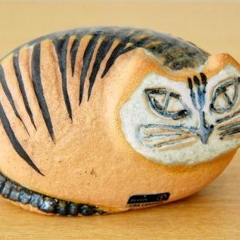 Lisa Larson/リサ・ラーソンデザイン/猫のオブジェ(ブラウン)の商品写真