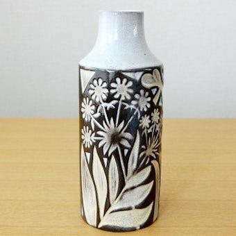 Upsala Ekeby/ウプサラエクビイ/Mari Simmulsonデザイン/.陶器の花瓶(蝶と花)の商品写真